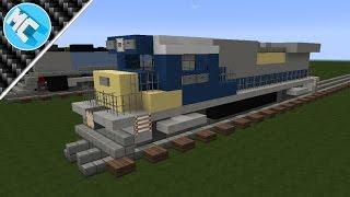 Minecraft: How to Build a Diesel Locomotive (CSX C40-8)