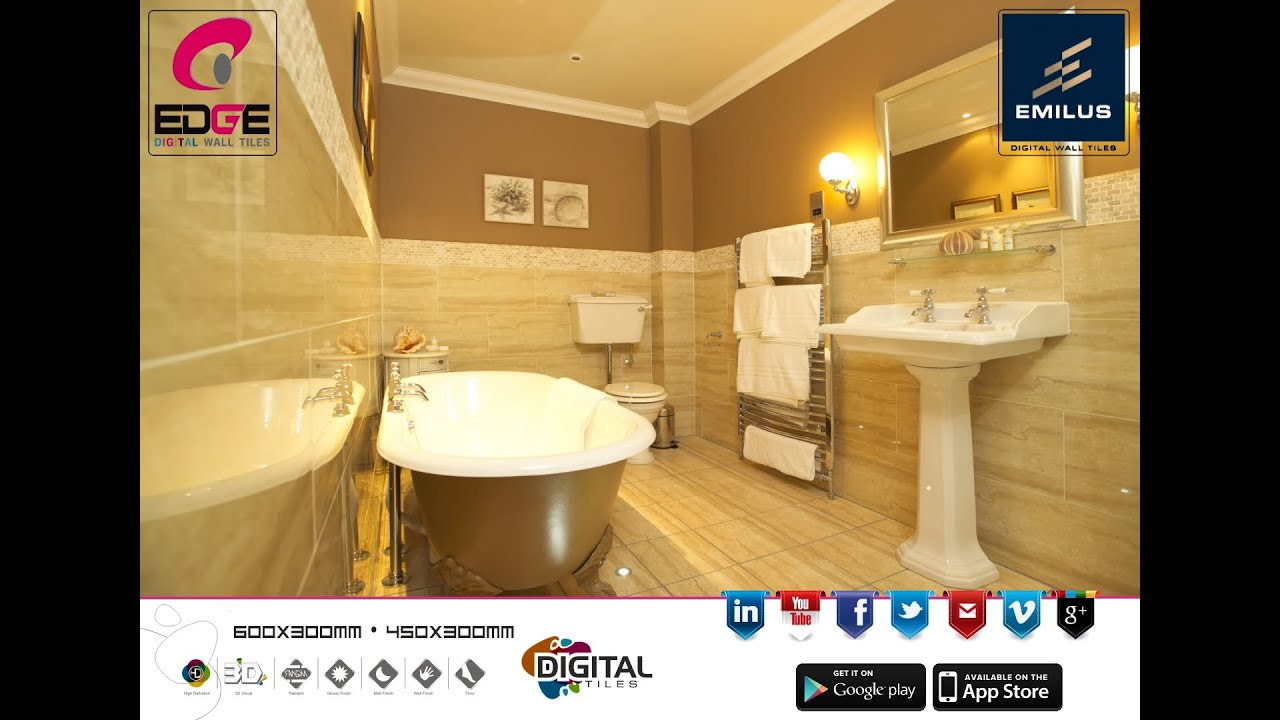 300x450 digital ceramic wall tiles manufacturer suppliers 300x450 digital ceramic wall tiles manufacturer suppliers exporter from edge ceramic youtube dailygadgetfo Gallery