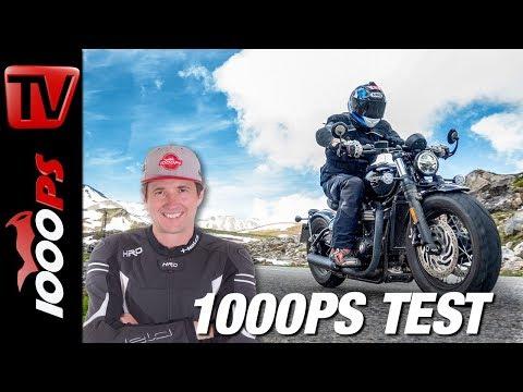 Triumph Bonneville Bobber Black Test - Wie viel Alpen verträgt sie? - Alpenmasters - Teil 2 von 18