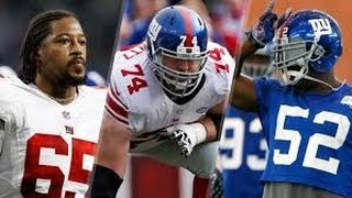 New York Giants‬, ‪Geoff Schwartz‬, ‪Jon Beason‬, ‪Will Beatty