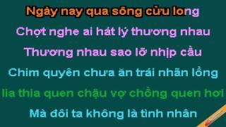 Dau Xot Ly Chim Quyen Karaoke - Phương Thanh Quang Linh - CaoCuongPro