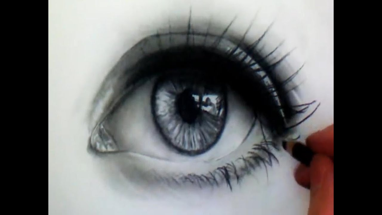 It is a picture of Breathtaking Real Eye Drawing