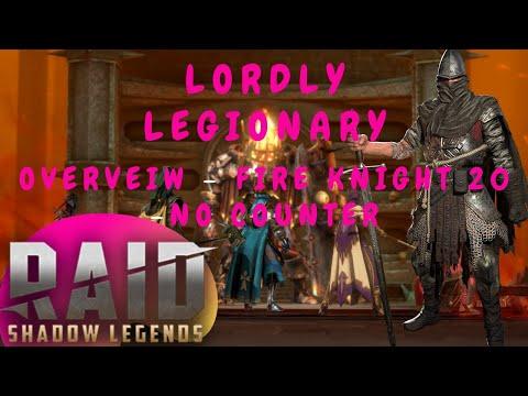 Raid: Shadow Legends - Lordly Legionary Overview: Fire Knight 20 Killer.