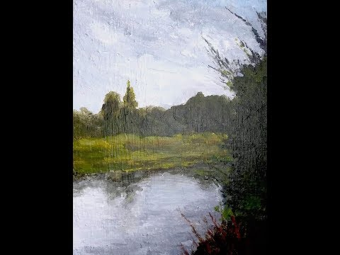 Fishing Hole Painting Lesson – Acrylic Landscape Artwork