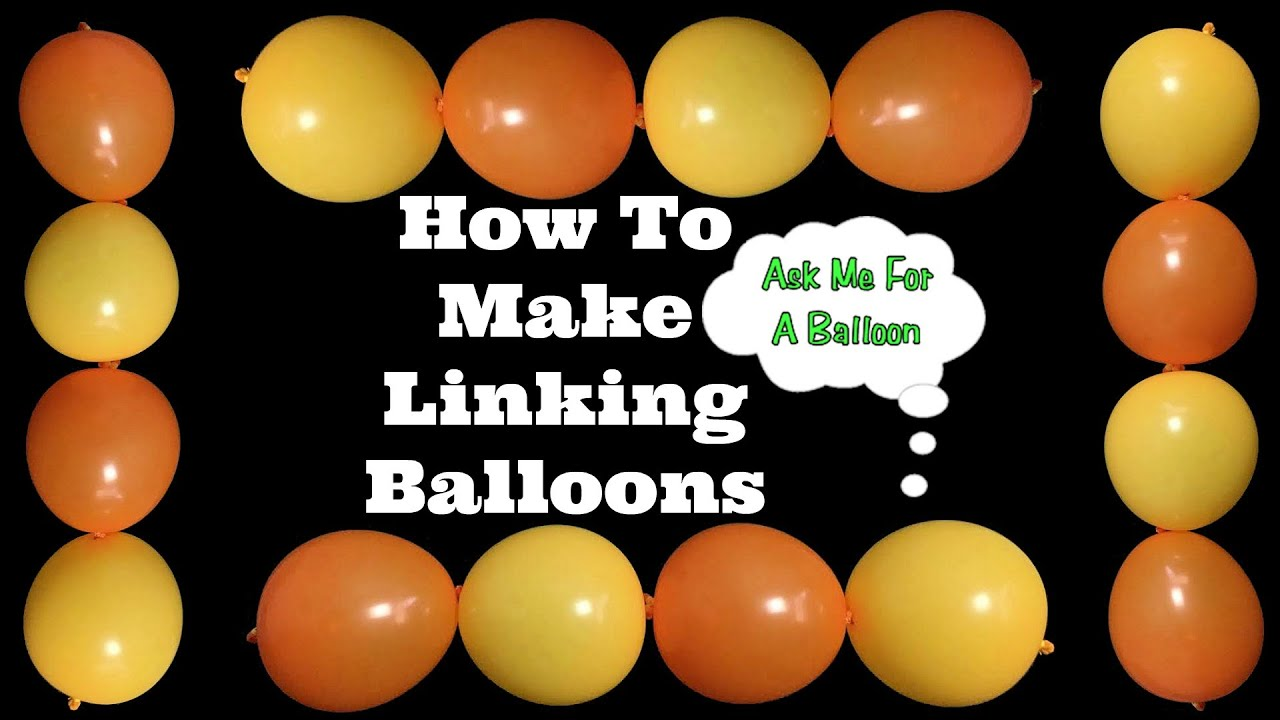 How to make linking balloons youtube for Balloon decoration how to make