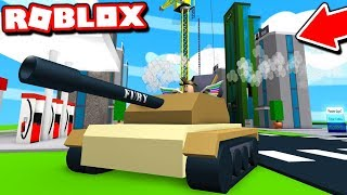 TANK vs SKYSCRAPPER in ROBLOX! (ROBLOX DEMOLITION SIMULATOR)
