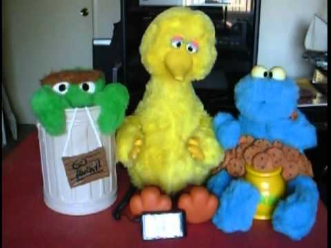 Big Bird, Cookie Monster, And Oscar The Grouch By Ideal