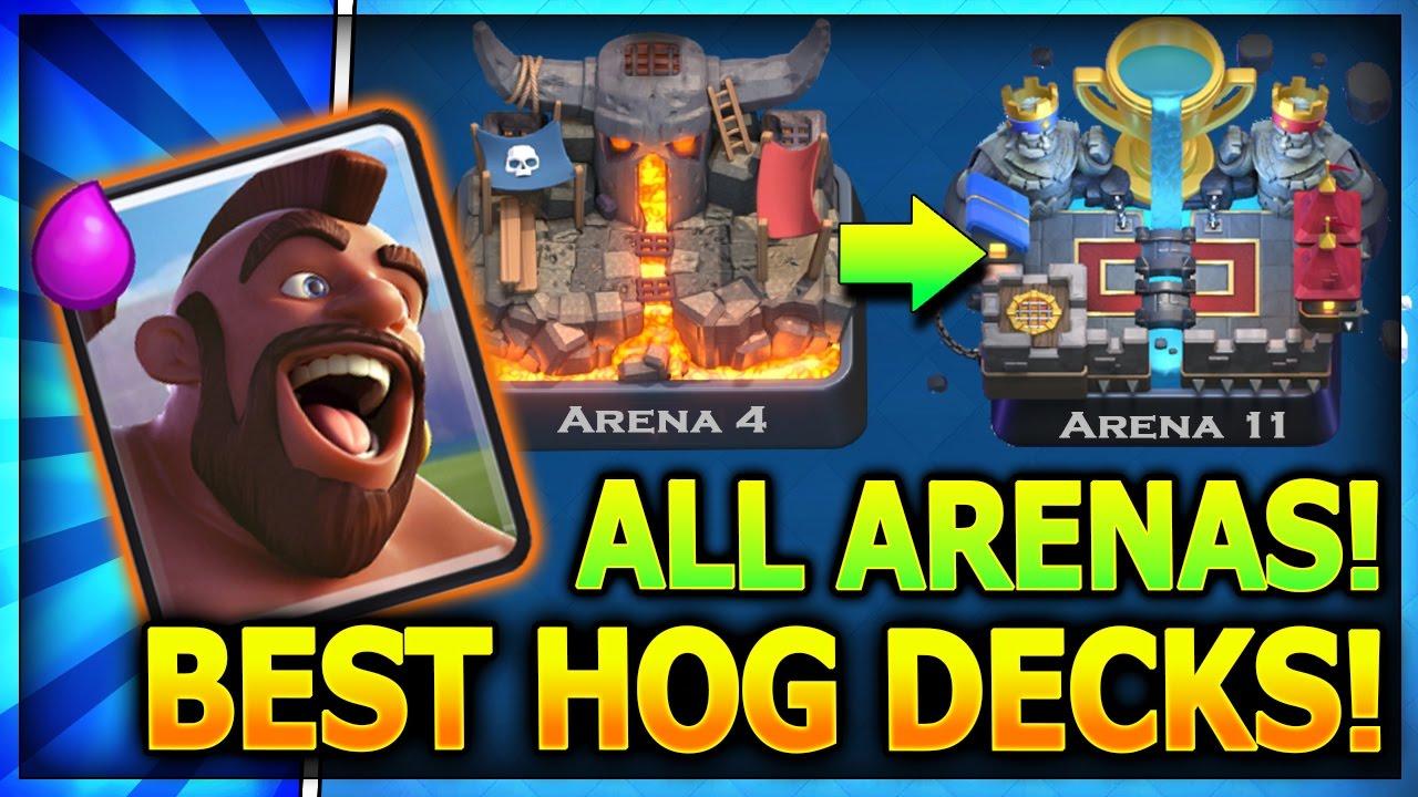 Top 3 Hog Rider Decks All Arenas W No Legendary Cards Clash Royale Best Hog Decks