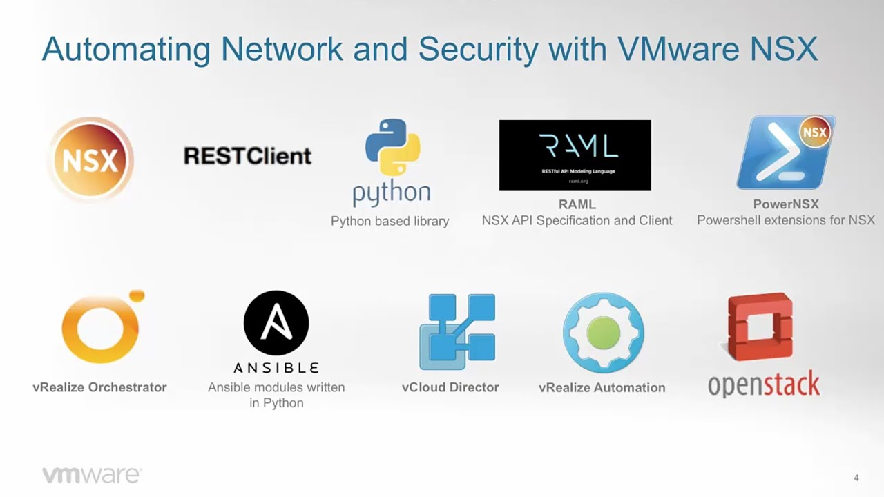 NSX Series 04 - VMware NSX and automation