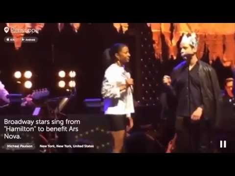 Groffsauce & Renee Elise Goldsberry singing Satisfied from the musical Hamilton