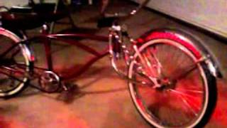 Lowrider bike with neon lights