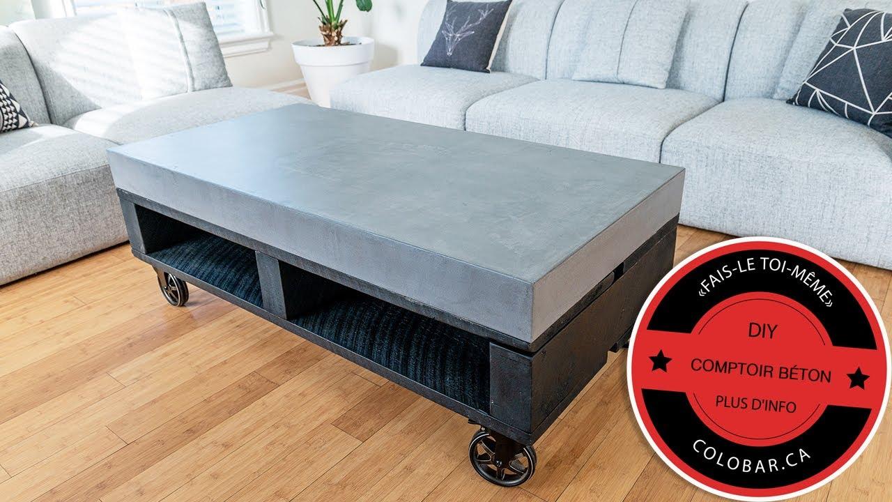 Comment Faire Une Table En Béton Ciré diy - comment faire une table ou un comptoir en béton