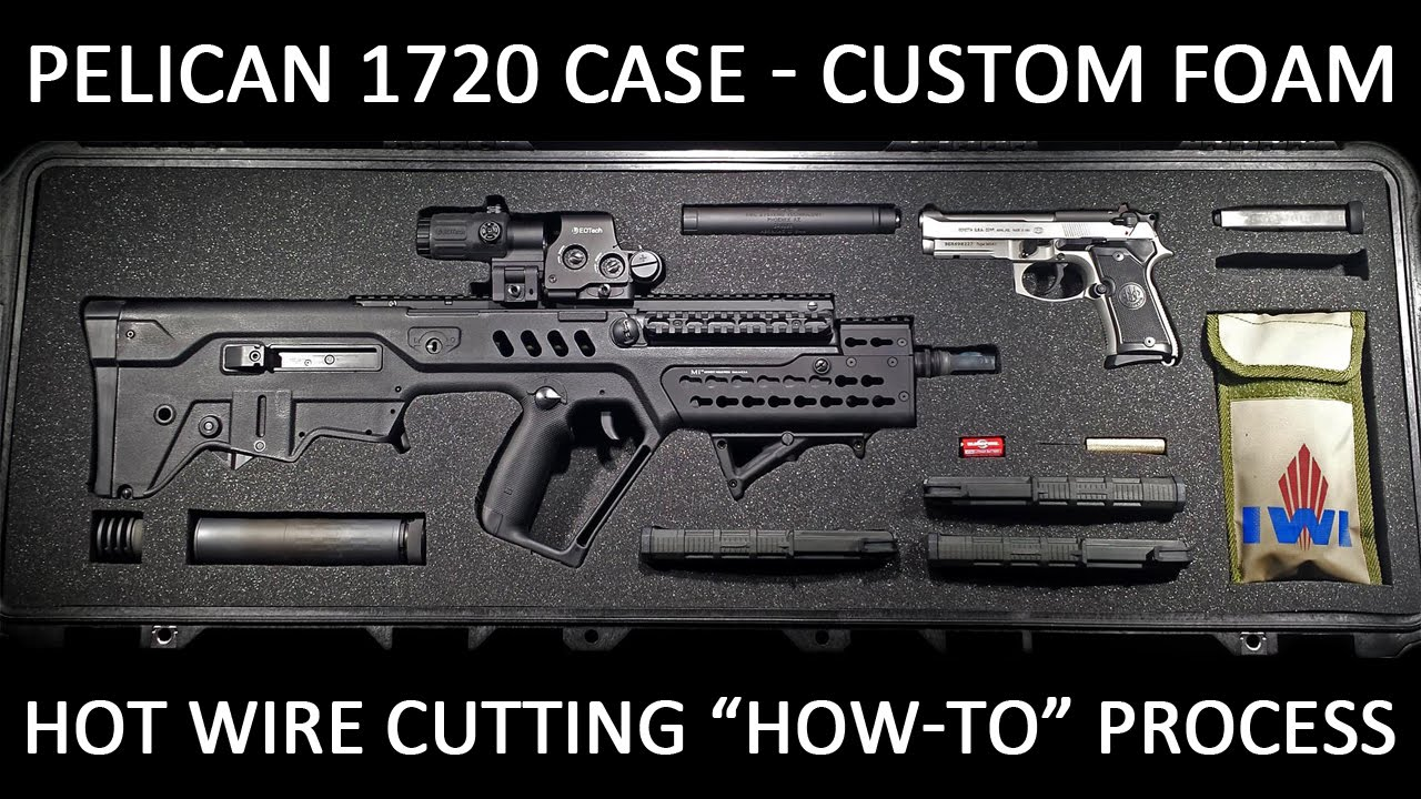 Part 1 custom foam cutting tutorial for the pelican 1720 gun case part 1 custom foam cutting tutorial for the pelican 1720 gun case how to using hot wire cutter youtube publicscrutiny Gallery