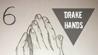 DRAKE PRAYING HANDS DRAWING