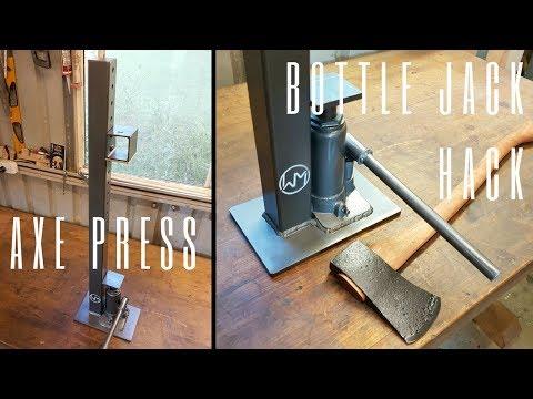 Bottle Jack Hack - Axe Wedge Press