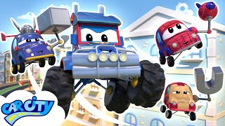 SuperTruck Monster Truck and Avengers save the City | SuperTruck - Rescue | Trucks Cartoons for Kids