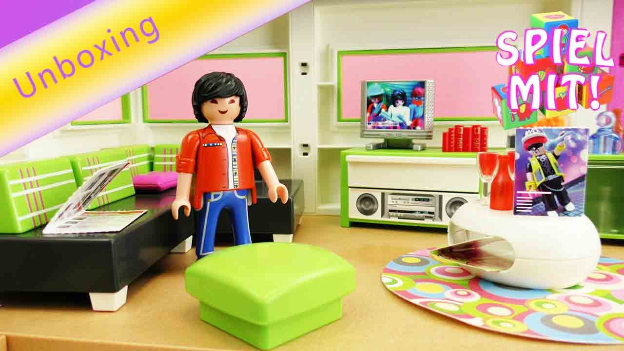 Playmobil Wohnzimmer 5584 Playmobil Wohnzimmer City Life 5584 Unboxing