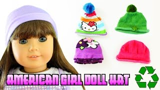 How to make AN AMERICAN GIRL NO-SEW HAT- Easy Doll Crafts