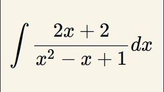 Całka funkcji wymiernej - logarytm i arctg - przykład