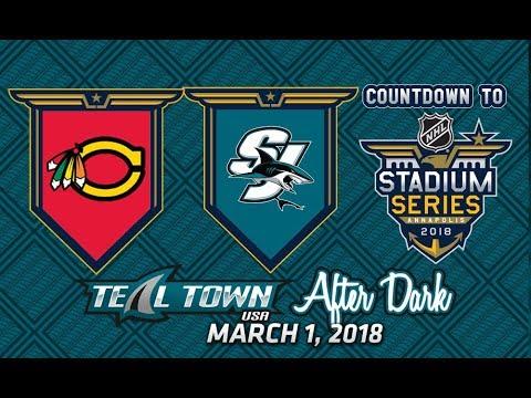 Teal Town After Dark (Postgame) Sharks vs. Blackhawks -  3/1/2018
