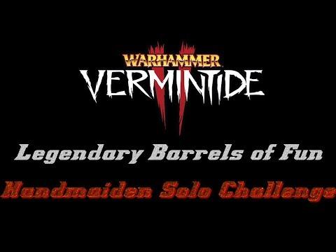 Vermintide 2 - Legendary Barrels of Fun Challenge Solo (Horn of Magnus) |