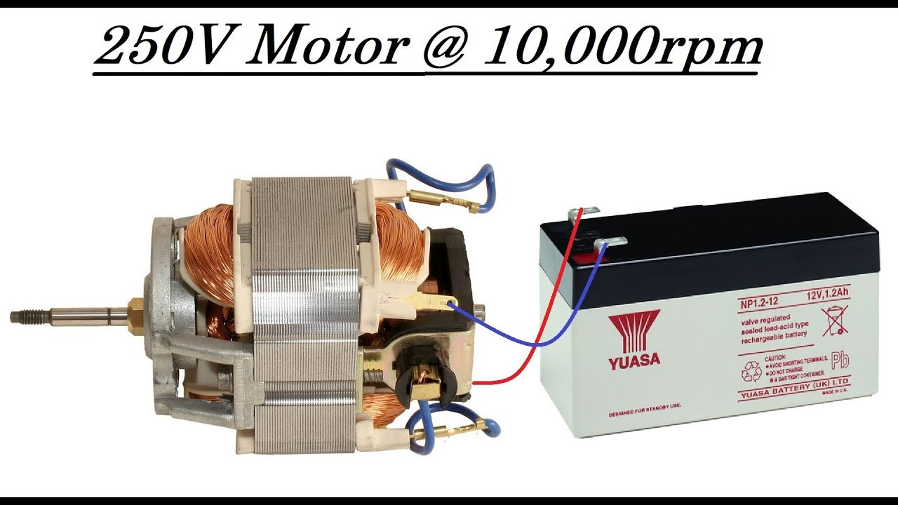 run a high torque 220v mixer or drill motor at 10000rpm with 12v dc diy [ 1280 x 720 Pixel ]