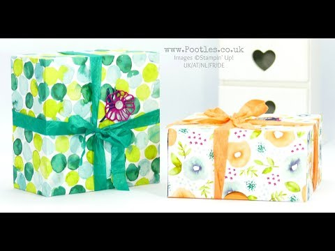 Enormous Fold Flat Lidded Box using Stampin' Up! Naturally Eclectic DSP