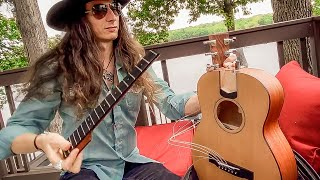 """I'VE BEEN EVERYWHERE"" with Insane Collapsible Acoustic Guitar! 