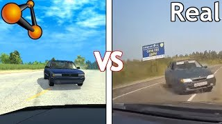 Real Life VS BeamNG.Drive - Crashes & Damage Test