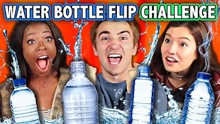 WATER BOTTLE FLIP CHALLENGE (ft. Teens React Cast) | Challenge Chalice