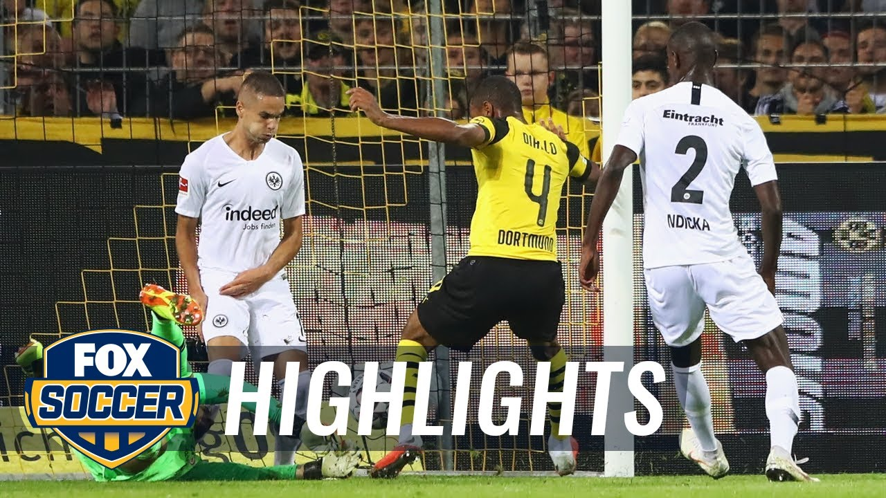 Abdou Diallo scores for Borussia Dortmund vs. Eintracht Frankfurt | 2018-19 Bundesliga Highlights
