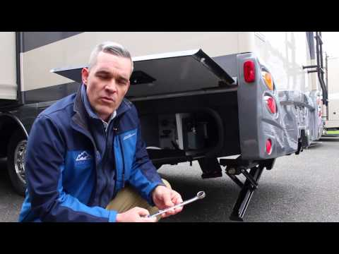 Winnebago's Class B & C Motorhome Electric Jacks Demo