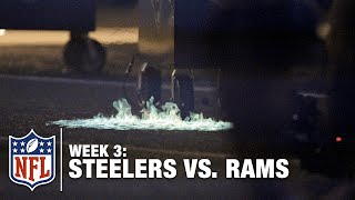 Turf Catches On Fire During Pregame Show   Steelers vs. Rams   NFL