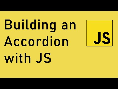 Building an Accordion with vanilla JavaScript | Tutorial thumbnail