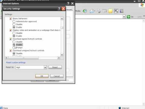 How To Enable ActiveX Settings In Internet Explorer