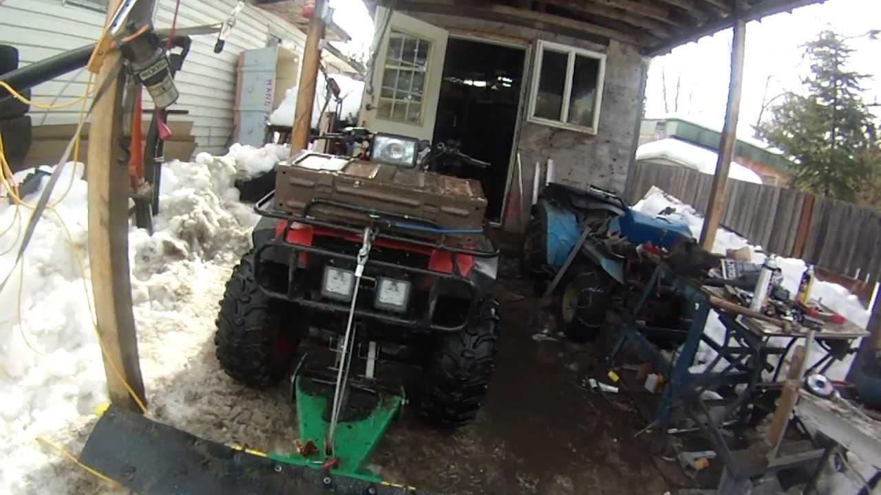 honda 350 home made lift kit wmv
