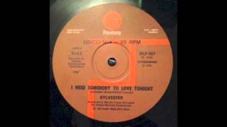 Sylvester - I Need Somebody To Love Tonight (Instrumental) [Fantasy, 1979]