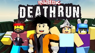 Failing Like A Pro! - DeathRun ft. AverageBloxer, IceIsSpy, & AquaBlox (Roblox Let's Play)