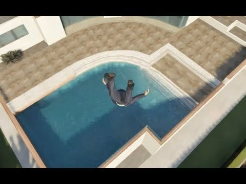 Skydiving Into Pools is listed (or ranked) 14 on the list The Greatest GTA V Gaming Moments of All Time