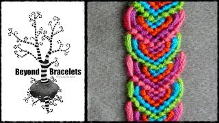► Friendship Bracelet Tutorial - Beginner - Alternating Leaves Pattern