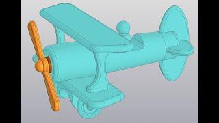 Видеоуроки Компас 3d v18. Сборка самолетика.3 Мотор, пропеллер и винт