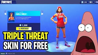"*NEW* How To Get ""TRIPLE THREAT & JUMPSHOT"" SKINS FOR FREE! How To Get Free FORTNITE Skins & V-BUCKS"