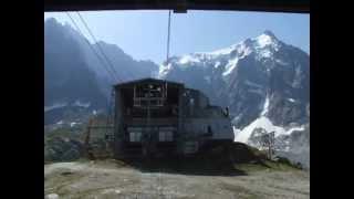 Mont Blanc. Auguille Du Midi. Wjazd kolejką linową.
