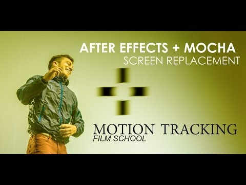 After Effects Tutorial - Screen Replacement (Motion Tracking w/Mocha)