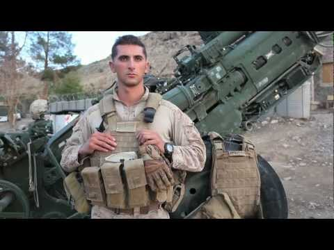 USMC Artillery (M777 Howitzer) in action in Afghanistan