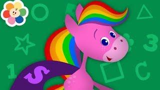 Los Colores en Español - Color Morado | Colores Para Niños | Caballo Arco Iris y Amigos | BabyFirst