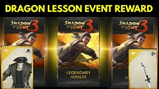 Shadow fight 3 dragon lesson event reward and defeating Dragon mentor| legendary and epic pack