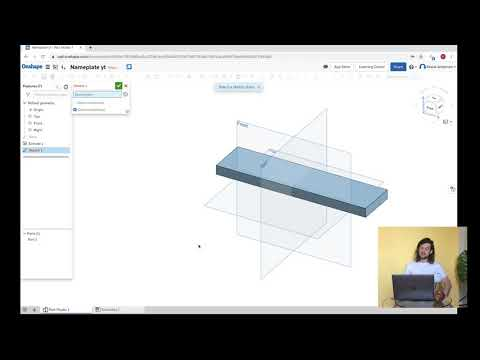 OnShape Free 3D Modeling Software: Make A NamePlate And Download An STL For 3D Printing!