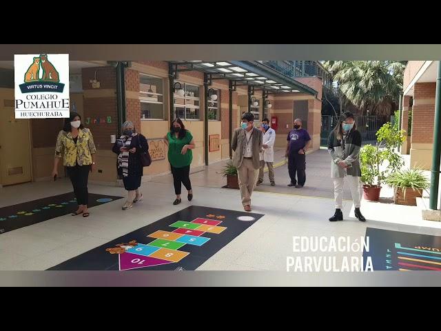 Visita de Esmeralda Rodríguez, Jefa Provincial Educación Zona Norte, al Colegio Pumahue Huechuraba