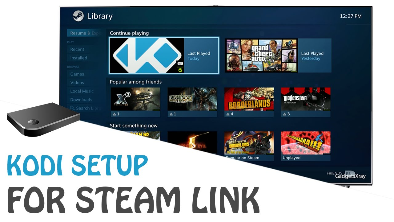 Steam Link - How to Install & Setup Kodi (Easy)